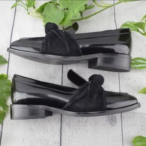 Jeffrey Campbell Patent Leather and Suede Loafers